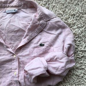Lacoste• Pink Long Sleeved Polo